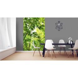 Tenture murale zen bambou vert