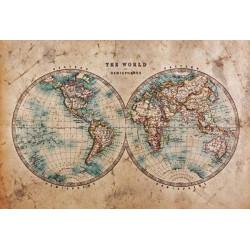 Papier peint THE WORLD IN HEMISPHERES