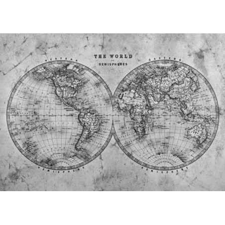 THE WORLD IN HEMISPHERES NB canvas print
