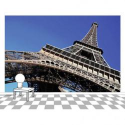 Tapisserie Paris avec sa Tour Eiffel