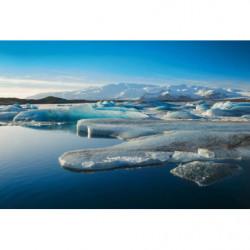 Poster panoramique banquise et la fonte des glaces