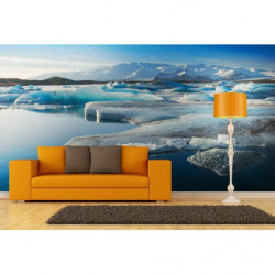 Panoramic ice floe poster
