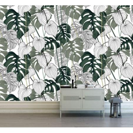TROPICAL KHAKI Wallpaper