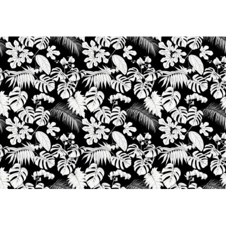 TROPICAL BLACK AND WHITE wallpaper