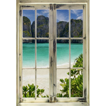 LOOK AT THE BEACH Canvas print