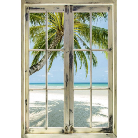 A LOOK AT THE COCONUT TREES Canvas print