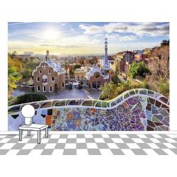 Papier peint panoramique photo de Barcelone
