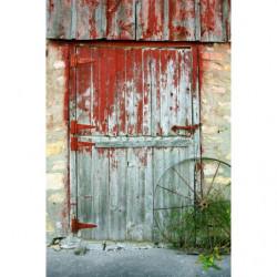Tenture murale fausse porte de grange