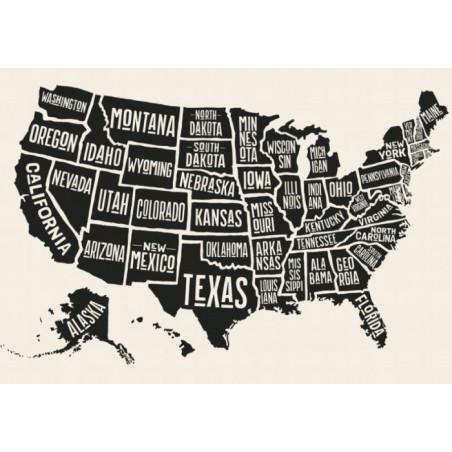 Cuadro en lienzo USA VINTAGE