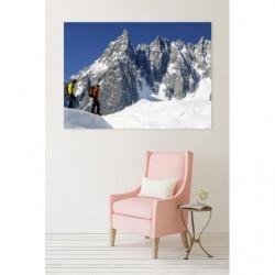 Tableau paysage montagne pic rocheux