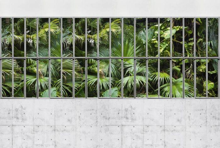 tenture murale florale style zen c ur de fleurs blanches. Black Bedroom Furniture Sets. Home Design Ideas