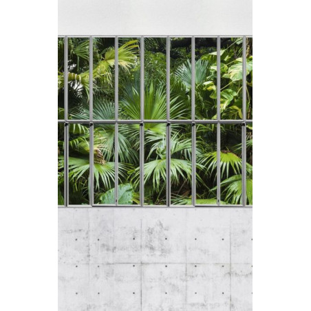GLASS PARTITION WALL AND CONCRETE Wall hanging