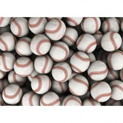 Tableau balles de baseball pour déco murale sportive