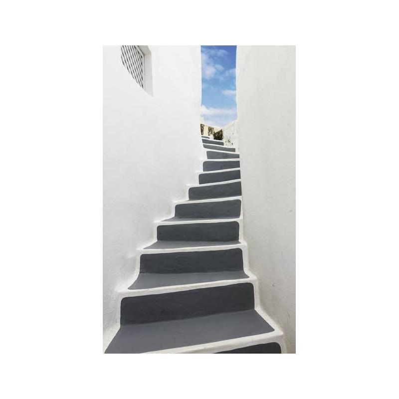 Escalier trompe l 39 oeil poster de porte artistique - Trompe l oeil escalier ...