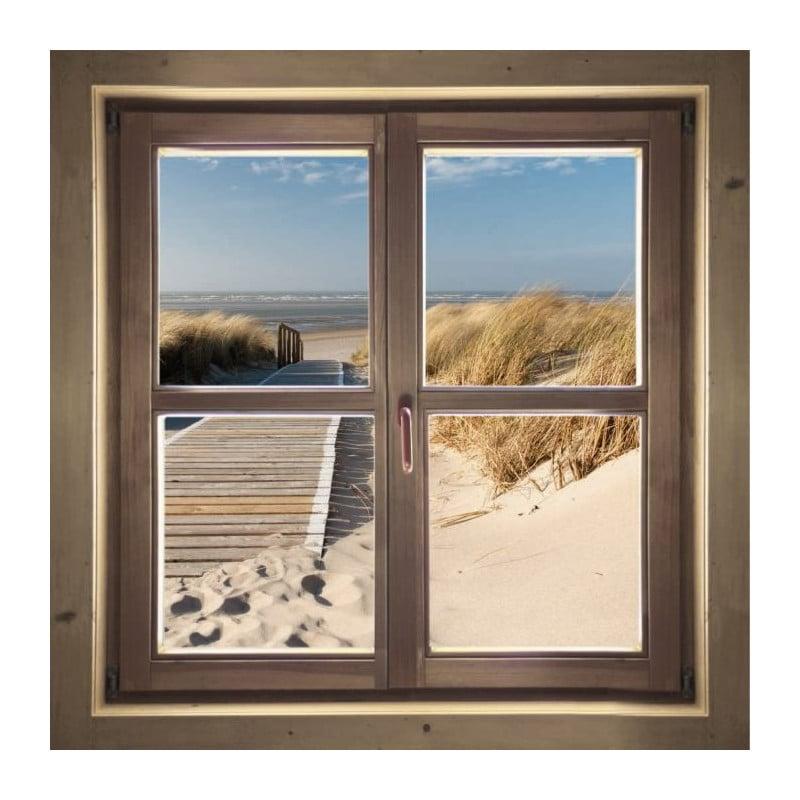 vue sur mer en tableau plexi trompe l 39 oeil chemin des dunes. Black Bedroom Furniture Sets. Home Design Ideas