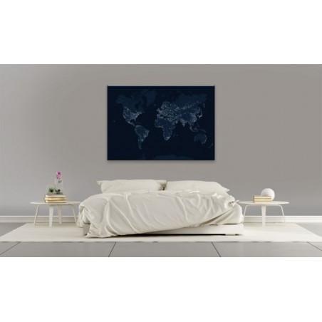 WORLD BY NIGHT Canvas print