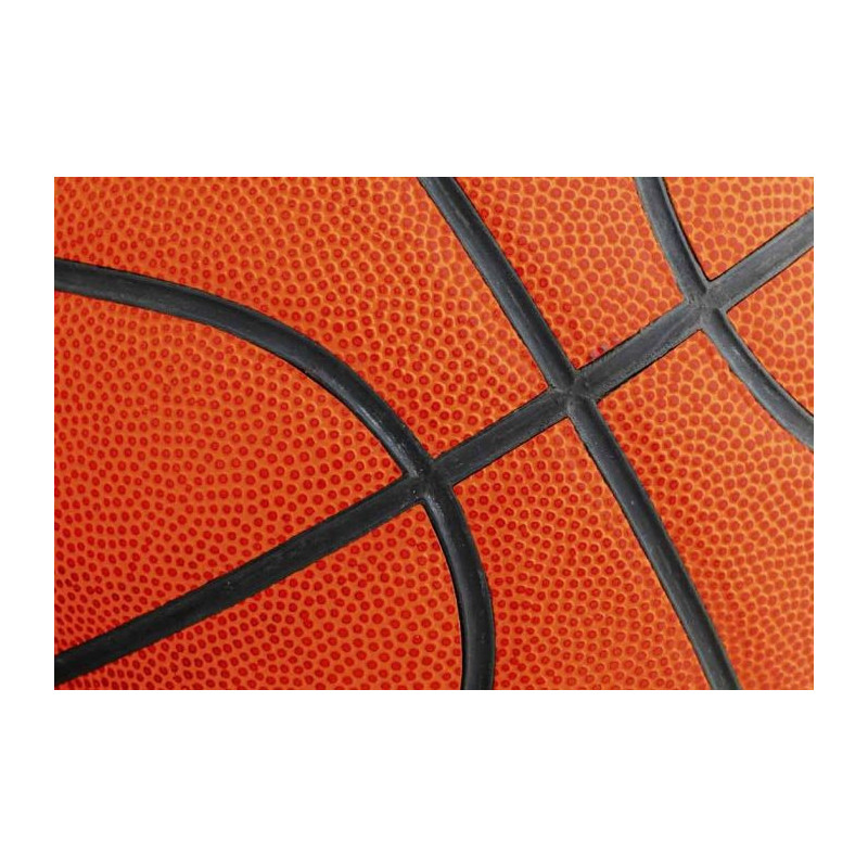 Tableau basketball sur plexi ballon orange en trompe l 39 oeil - Deco basketball chambre ...