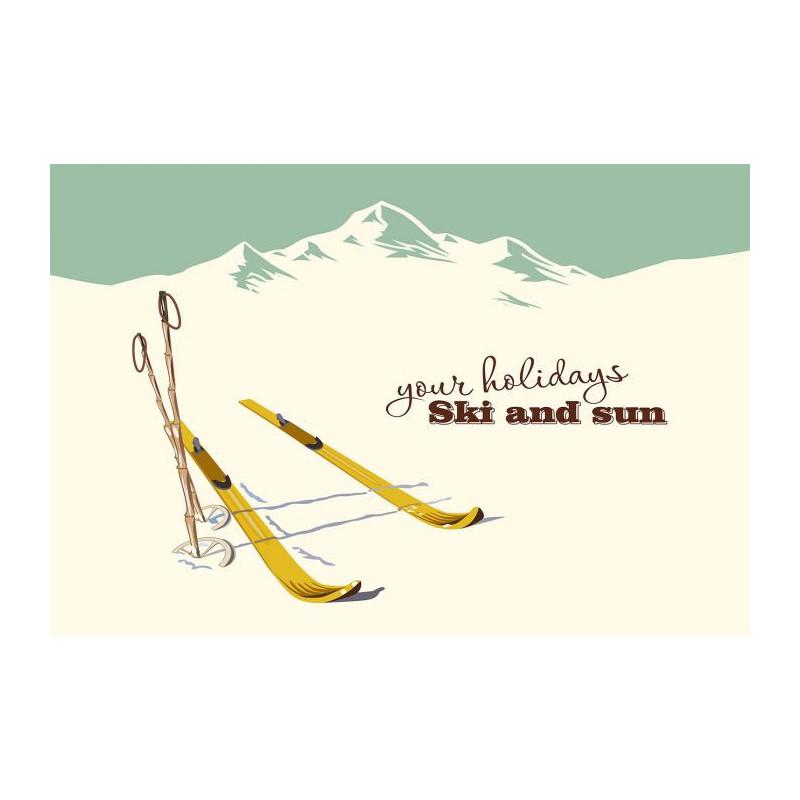 poster panoramique ski par scenolia. Black Bedroom Furniture Sets. Home Design Ideas