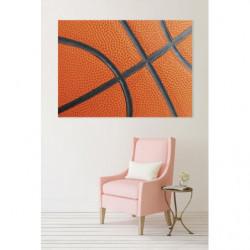 Cuadro en lienzo naranja de baloncesto