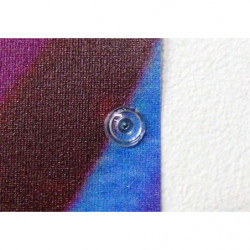 Transparent poster pins