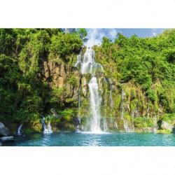 Poster cascade île de la Réunion