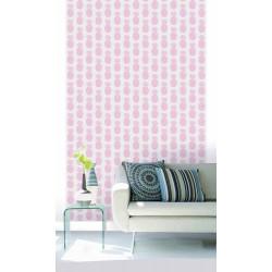 Papier peint motif ananas rose