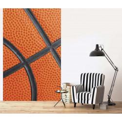 Poster orange ballon de basket