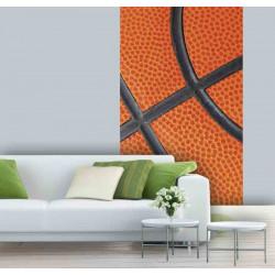 Papier peint ballon de basket orange géant