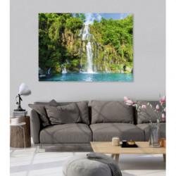 Tableau cascade en photo sur l'île de la Réunion