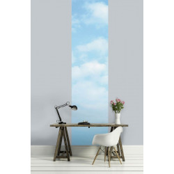 Papier peint ciel bleu et nuages de coton