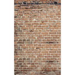 Poster industriel brique : panoramique trompe l'oeil imitation mur