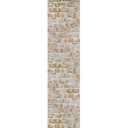 Tenture murale trompe l'oeil mur en briques couleur ocre