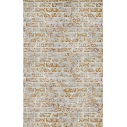 Poster panoramique trompe l'oeil mur de briques ocres