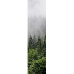 Tenture murale verticale forêt dans la brume pour déco mystérieuse