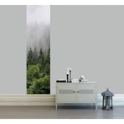 Papier peint foret dans la brume