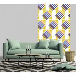 Papier peint géométrique design Bauhaus