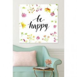Flower canvas print and positive quote