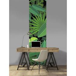 Papier peint panoramique motif jungle vert
