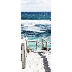 Poster trompe l'oeil plage en bord de mer