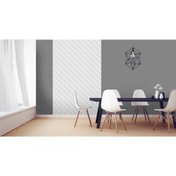 Poster 3D motifs blancs