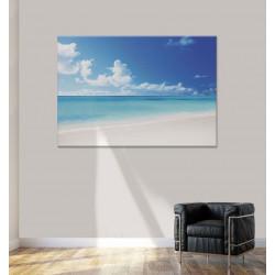 Poster plage et mer aussi bleu que le ciel