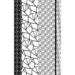 Póster de diseño con motivos en blanco y negro