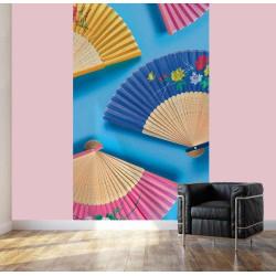 Abanicos gigantes de papel pintado extravagantes