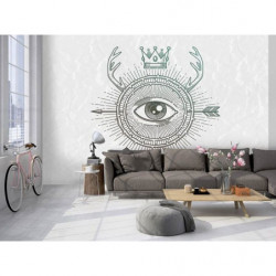 Papier peint design dessin d'un oeil omniscient