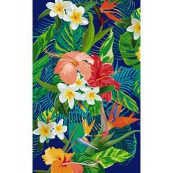Papier peint coloré oiseau du paradis