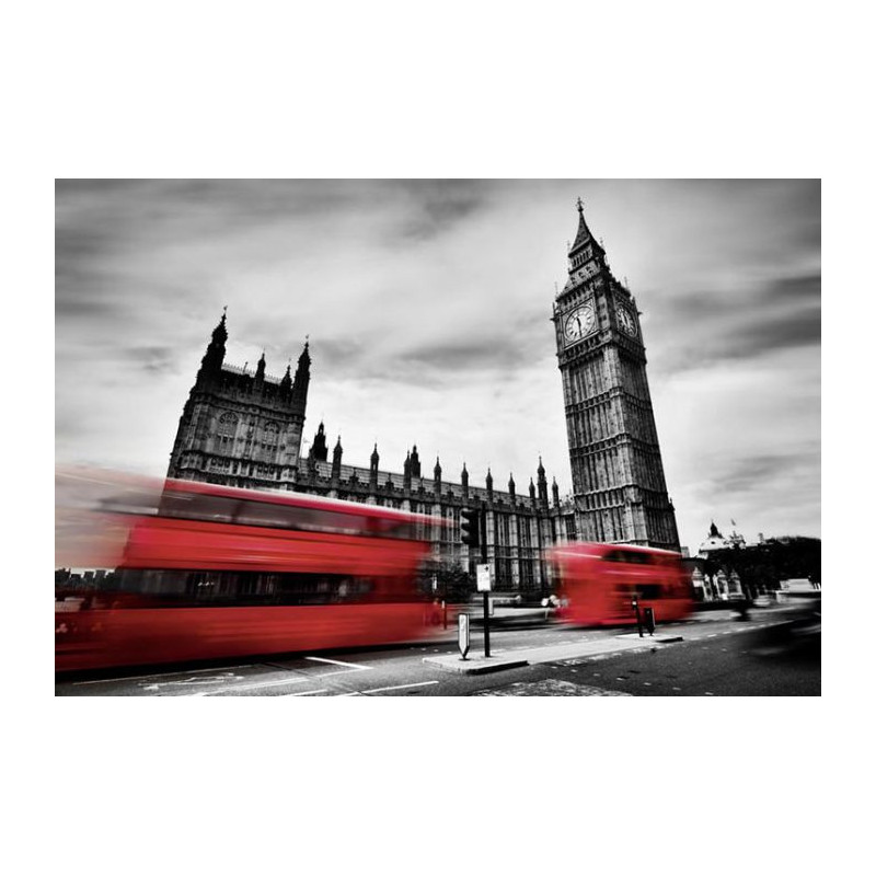 London bus poster panoramique bus rouge sur la tamise londres - Boutique londres pas cher ...
