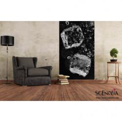 Tenture murale glaçons géants noirs