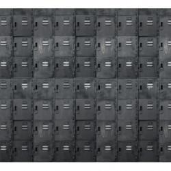 Papier peint casiers noirs trompe l'oeil