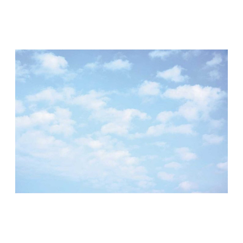 Papier peint panoramique ciel bleu nuages blancs - Papier peint bleu ciel ...