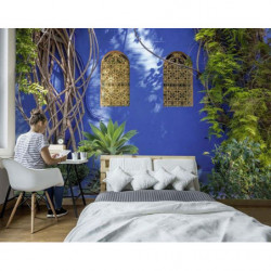 Poster maison de Marrakech bleue